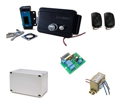 Kit Electrocerradura A Control Remoto Puertas Comercios