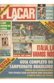 Revista Digitalizada Placar Guia Brasileiro 1989 + 2 Álbuns