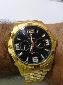 Relógio Masculina Barato Social Exclusivo Pulseira De Borrac