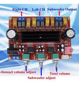 Kit Placa Amplificador 2.1 - 200w Rms 50w+50w+100w