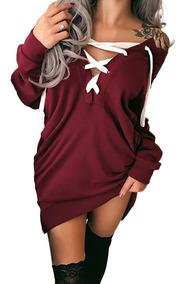 Sexy Mujeres Apagado Hombro Capucha Sweatershirt Pullovers