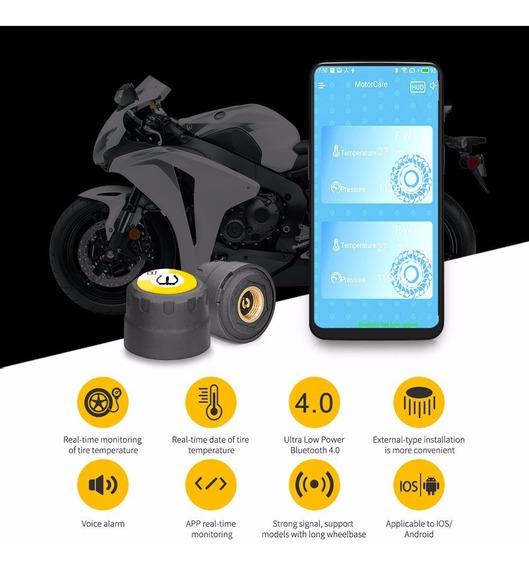 Sensor Presión De Neumáticos Y Temperatura Motos Tpms Bt 4.0