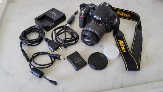 Câmera Nikon D 3200 + Lente 50mm Yongnuo