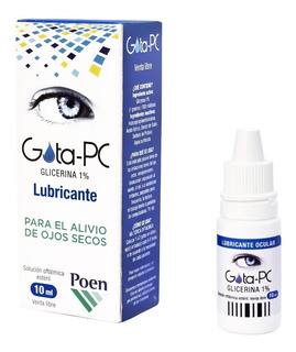 Gota Pc Lubricante Ocular Azul Sequedad 10ml