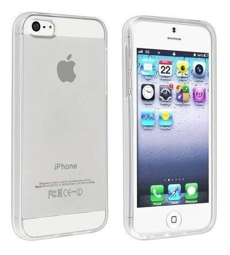 Imagem 1 de 1 de Capa Case Capinha Ultra Slim Transparente Para iPhone 5/5s