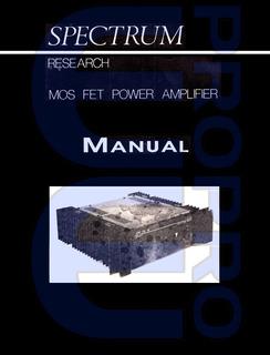 Manual De Potencia Spectrum By Sonolink Orig. - P/coleccion