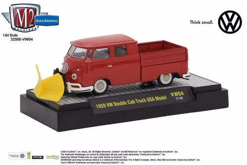 Perudiecast M2 Machines Vw Double Cab Truck Usa Model  1:64