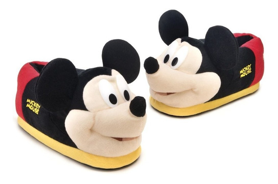Presente Pantufas De Pelúcia 3d Mickey Mouse Disney 43/44