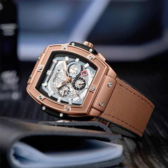 Relógio De Pulso Onola Lindo Luxuoso Elegante