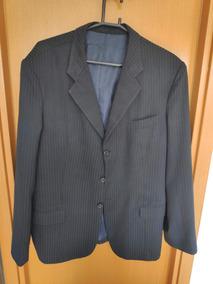 Terno Completo Masculino (blazer E Calça) Preto Risca De Giz