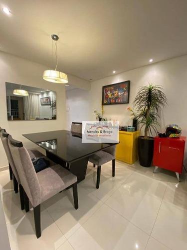 Apartamento À Venda, 75 M² Por R$ 525.000,00 - Vila Augusta - Guarulhos/sp - Ap2586
