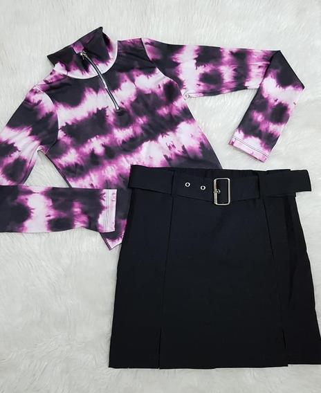 Camiseta Polera Manga Larga Batik Mujer