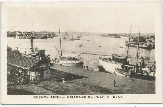 Antigua Postal Puerto La Boca, Buenos Aires 1927