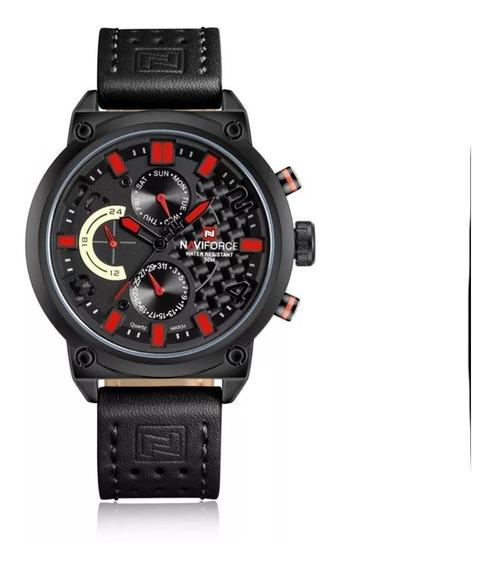 Relógio Masculino Naviforce Quartzo Aço 9068 Caixa Original