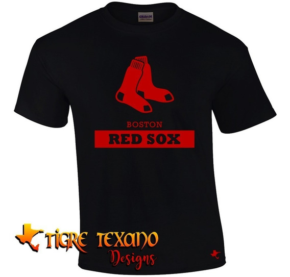 Playera Mlb Red Sox Boston Mod. H By Tigre Texano Designs