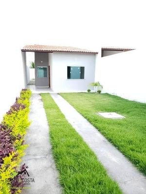 Casa Com 3 Dormitórios À Venda, 90 M² Por R$ 160.000 - Parque Dom Pedro - Itaitinga/ce - Ca0300