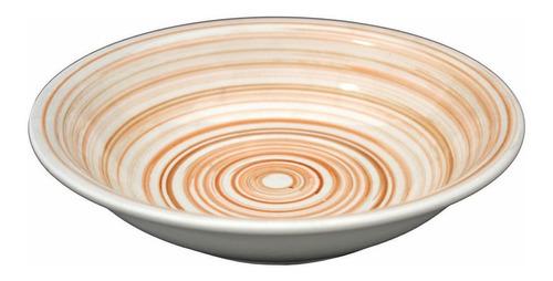 Plato Ceramica Hondo A Rayas Jc Importaciones