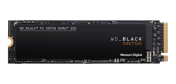 Disco sólido interno Western Digital WD Black SN750 WDS500G3XHC 500GB negro