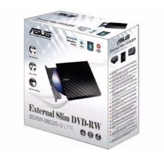 Gravador Externo Asus De Cd/dvd - Sdrw-08d2s-u/blk/g/as