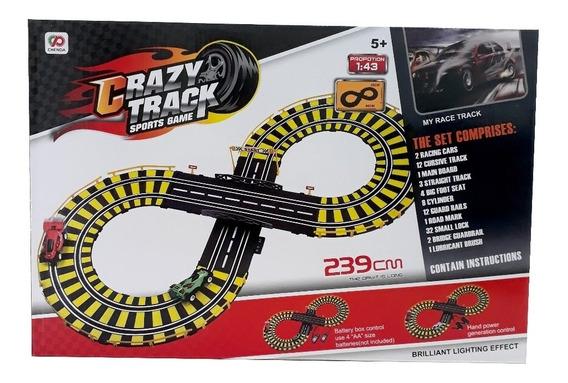 Autorama Pista De Corrida Infantil Crazy Track Com 2 Carros