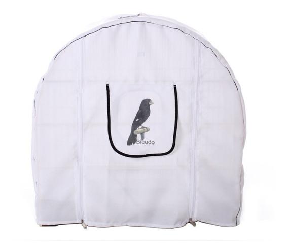Capa Para Gaiola Bicudo Branca Estampa Nº6