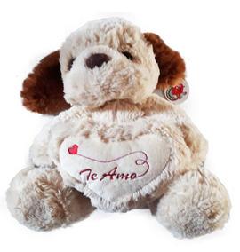 Namorados Cachorrinho Pelucia Coração Macio Te Amo Presentes