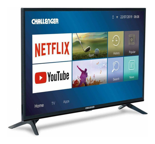 Televisor Challenger 32  80cm Led 32tl48 Netflix Tv Hd T2