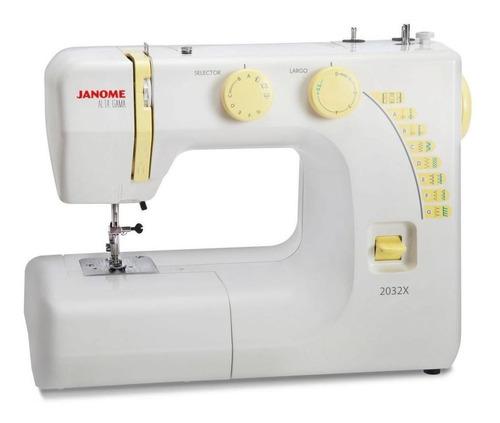 Máquina de coser recta Janome 2032X portable blanca 220V