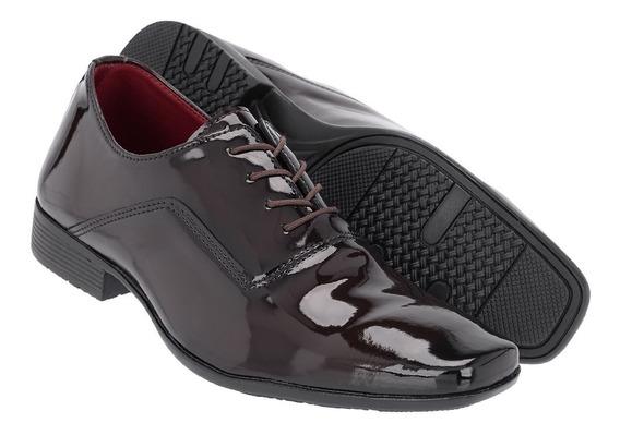 Sapato Social Masculino Em Verniz Ref:1100