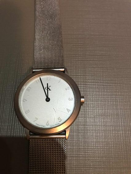 Relógio Suíço Calvin Klein.aço. Masculino 3,5cm Diâmetro.