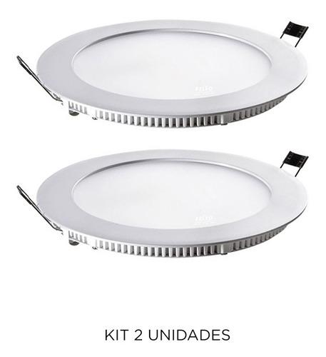 Imagen 1 de 3 de Spot De Embutir Redondo En Blanco, 12w Cálido - Ixec Ix2032