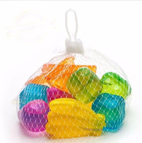 50 Cubos De Gelo Artificial Reutilizável Coloridos Frutas