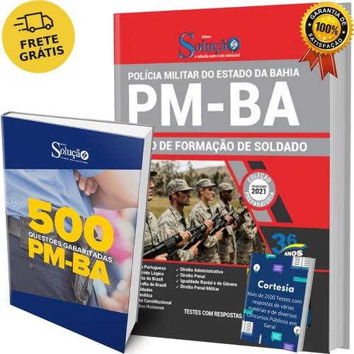 Kit Apostila Pm Ba Soldado E Livro De Questões Pm Bahia