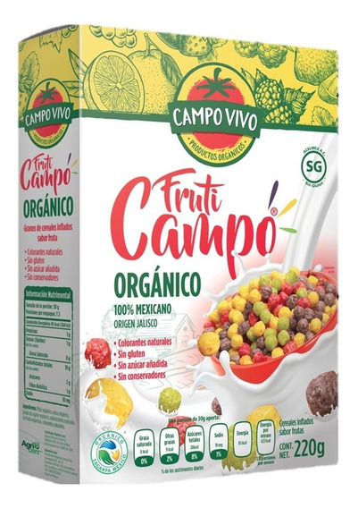 Cereal Orgánico Fruti Campo Vivo 220g.