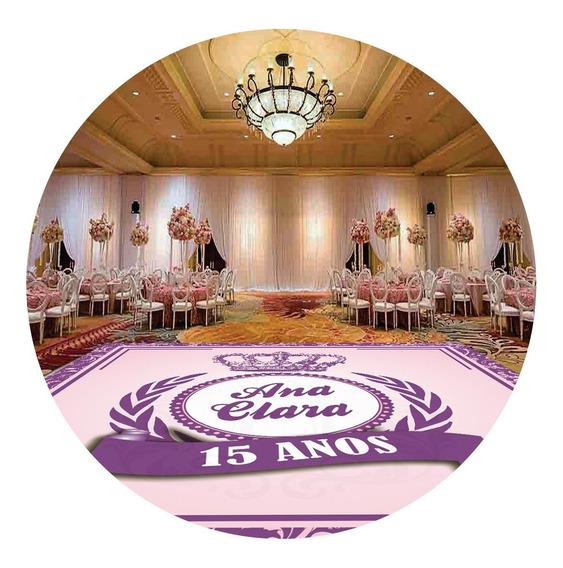 Pista De Dança Aniversário 15 Anos Realeza Coroa Db14 - 5x5m
