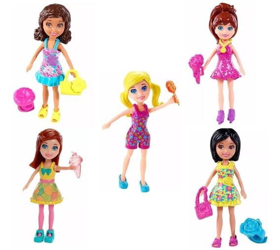 Kit 5 Bonecas Polly Pocket Original Mattel Frete Gratis