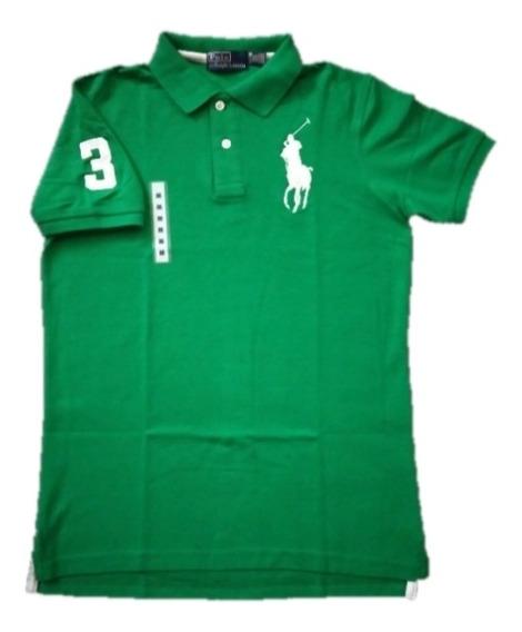 Playera Tipo Polo Color Verde