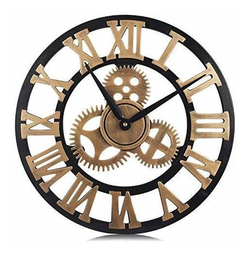 Reloj De Pared De Engranaje Vintage Pumerit Reloj De Madera