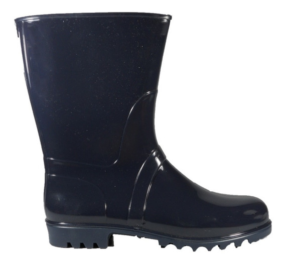 Bota De Lluvia Proforce Azul Media Caña Dama
