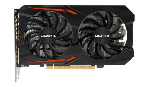 Placa de video Nvidia Gigabyte GeForce GTX 10 Series GTX 1050 Ti GV-N105TOC-4GD OC Edition 4GB
