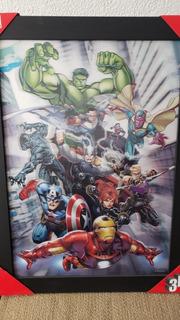 Cuadro 3d Avengers