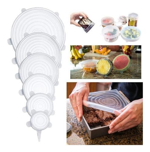Imagen 1 de 6 de Tapa De Silicona De Comida Para Microondas, 6 Unidades