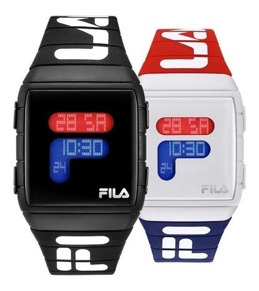 Relógio Fila Digital Unisex Com Caixa Barato Pronta Entrega