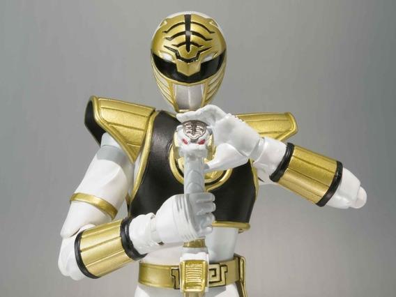 Boneco Power Ranger Branco C/head Tommy