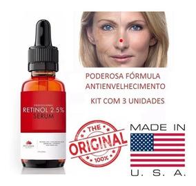 Serum Retinol 2,5% Frasco Com 30ml- 3 Unidades Frete Grátis