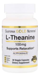 L-teanina Importada - 100mg - 30 Tabs - Ansiedade - Natural