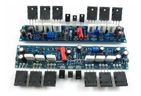 1 Placa Montada Amplificador Ab 350 W 2sa1943 E 2sc5200