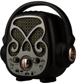 Radio Vintage Fm Com Bluetooth Usb Bateria Retro Pendrive Sd