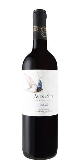 Vinho Chileno Tinto Aves Del Sur Merlot Garrafa 750ml