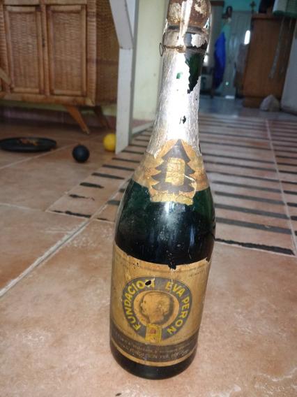 Fundación Eva Peron, Botella De Sidra Antigua Con Contenido
